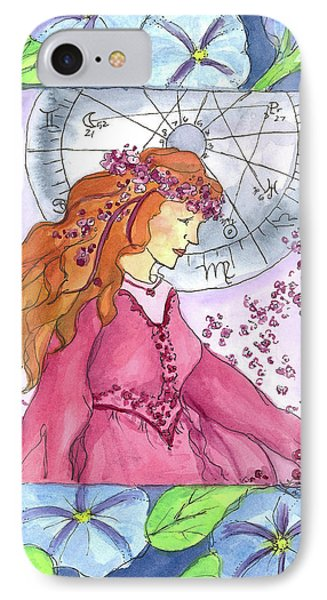 IPhone Case featuring the painting Virgo by Cathie Richardson