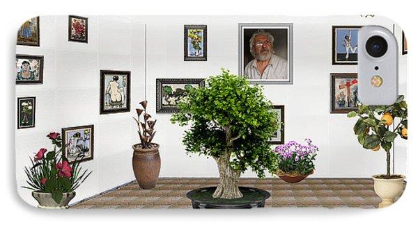 Virtual Exhibition -  Bonsai 13 IPhone Case by Pemaro