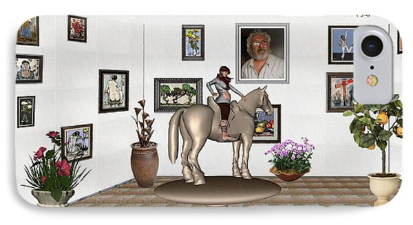 Virtual Exhibition Horsewoman 13 IPhone Case by Pemaro