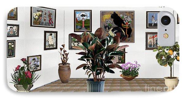 Virtual Exhibition -  Rubber Plant 16 IPhone Case
