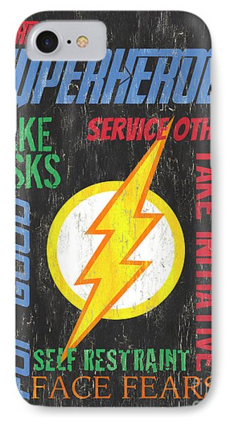 Virtues Of A Superhero 2 IPhone Case by Debbie DeWitt