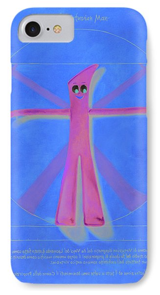 Virtuvian Man IPhone Case by Judy Sherman