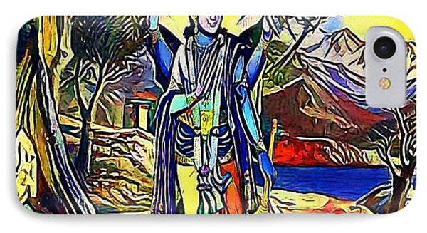 Vishnu, Hindu God - My Www Vikinek-art.com IPhone Case by Viktor Lebeda