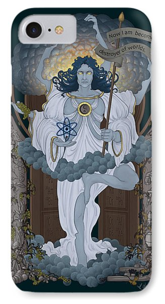 Vishnu - Nuclear IPhone Case by Cassiopeia Art