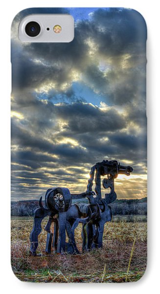 Visible Light The Iron Horse Sunrise Art IPhone Case by Reid Callaway