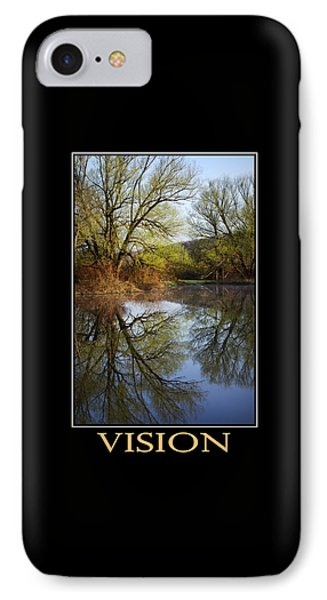 Vision Inspirational Motivational Poster Art Phone Case by Christina Rollo