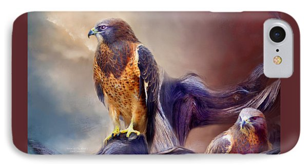 Vision Of The Hawk 2 IPhone Case by Carol Cavalaris
