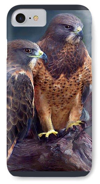 Vision Of The Hawk IPhone Case by Carol Cavalaris