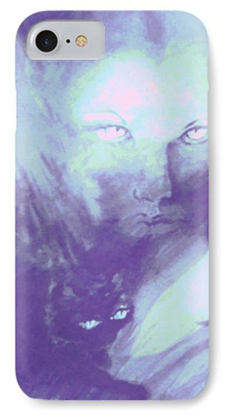 IPhone Case featuring the painting Visions Of The Night by Denise Fulmer