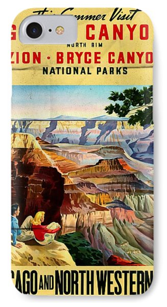 Visit Grand Canyon - Folded IPhone Case by Vintage Advertising Posters