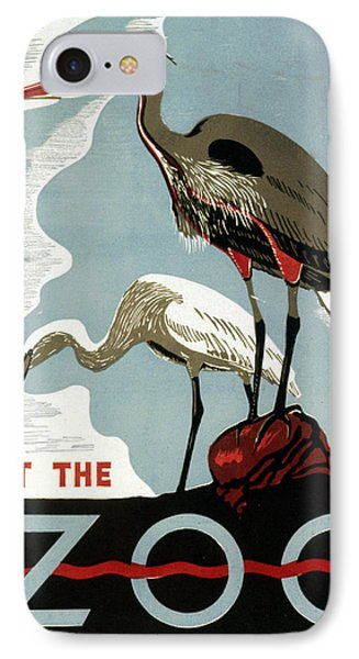 Visit The Zoo Egrets  Phone Case by Unknow