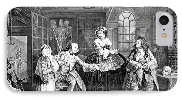 Visit To The Quack Doctor, 1745 Phone Case by Science Source