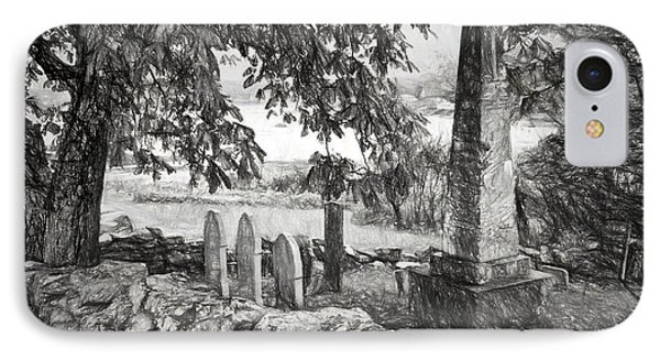 Visiting History - Black And White IPhone Case