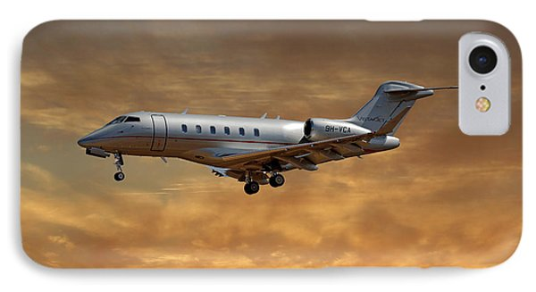 Jet iPhone 7 Case - Vista Jet Bombardier Challenger 300 2 by Smart Aviation
