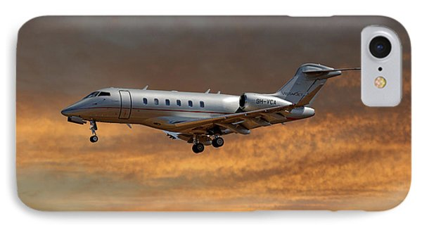 Jet iPhone 7 Case - Vista Jet Bombardier Challenger 300 3 by Smart Aviation