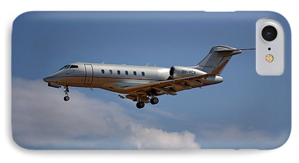 Jet iPhone 7 Case - Vista Jet Bombardier Challenger 300 4 by Smart Aviation