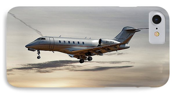 Jet iPhone 7 Case - Vista Jet Bombardier Challenger 300 by Smart Aviation