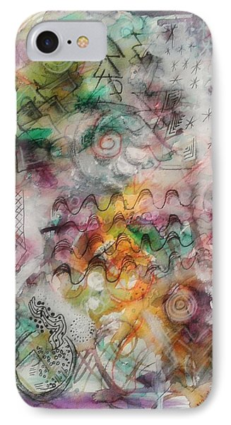 IPhone Case featuring the mixed media Visual Language by Mimulux patricia no No