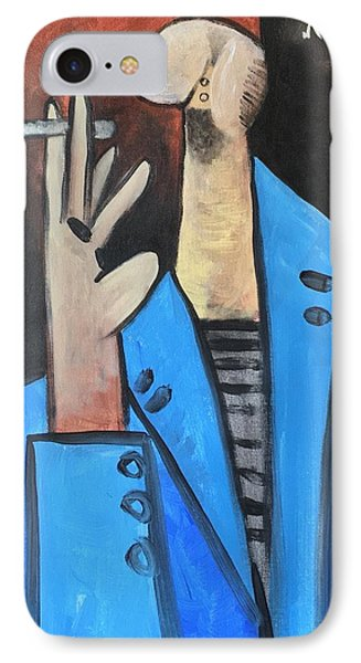 Vitae The Smoker In A Blue Blazer  IPhone Case by Mark M Mellon