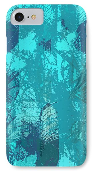 Vivid Blue Seafoam Nyc Water Towers  IPhone Case