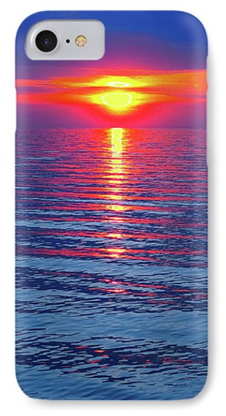 Vivid Sunset With Emerson Quote - Vertical Format IPhone Case by Ginny Gaura