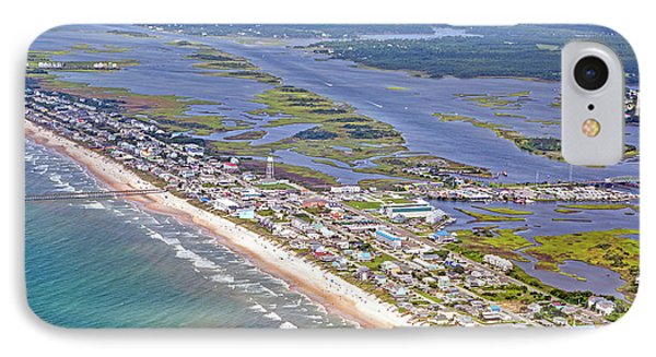 Vivid Surf City Topsail Island IPhone Case by Betsy Knapp