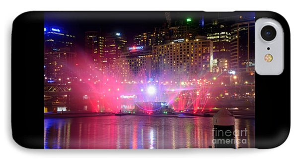 Vivid Sydney By Kaye Menner - Vivid Aquatique Pink And Blue IPhone Case