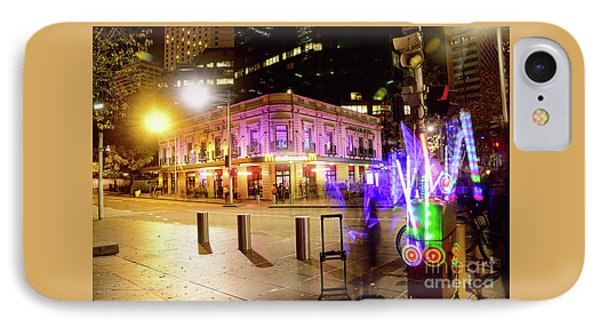 IPhone Case featuring the photograph Vivid Sydney Circular Quay By Kaye Menner by Kaye Menner