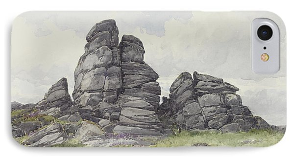 Vixen Tor, Near Merivale Bridge, Dartmoor IPhone Case by Frederick John Widgery
