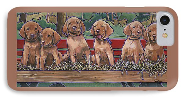 Vizsla Pups IPhone Case by Nadi Spencer