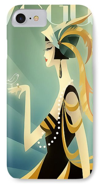 IPhone Case featuring the digital art Vogue - Bird On Hand by Chuck Staley