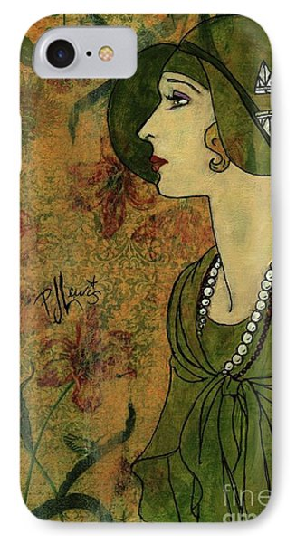 IPhone Case featuring the painting Vogue Twenties by P J Lewis