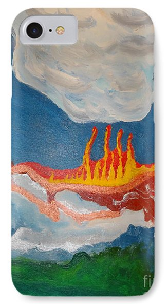 IPhone Case featuring the painting Volcanic Action by Rod Ismay