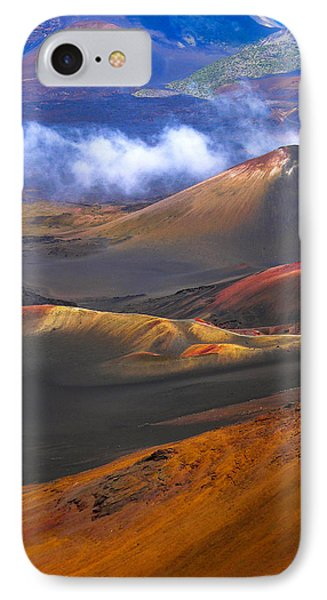 IPhone Case featuring the photograph Volcanic Crater In Maui by Debbie Karnes