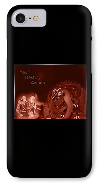 IPhone Case featuring the digital art Volcanic Destiny by Raphael Lopez