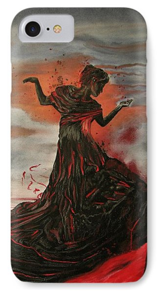 IPhone Case featuring the painting Volcano Keeper by Melita Safran