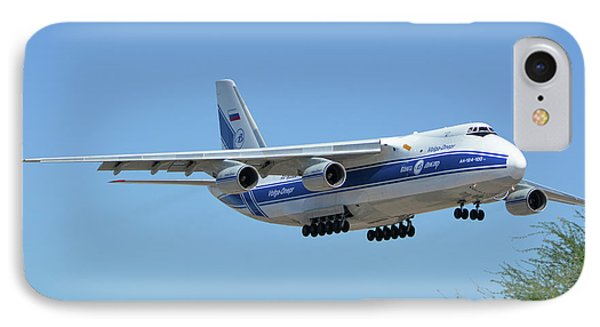 Volga-dnepr An-124 Ra-82068 Landing Phoenix Sky Harbor June 15 2016 Phone Case by Brian Lockett
