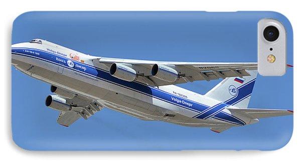 Volga-dnepr An-124 Ra-82068 Take-off Phoenix Sky Harbor June 15 2016 Phone Case by Brian Lockett