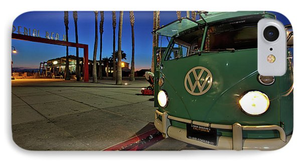 Volkswagen Bus At The Imperial Beach Pier IPhone Case by Sam Antonio Photography