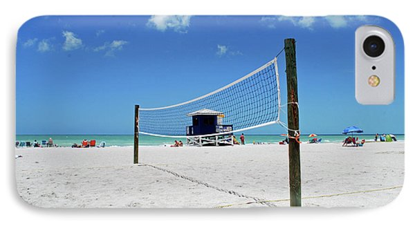 IPhone Case featuring the photograph Volley Ball On The Beach by Gary Wonning