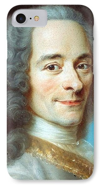 IPhone Case featuring the painting Voltaire by Pg Reproductions