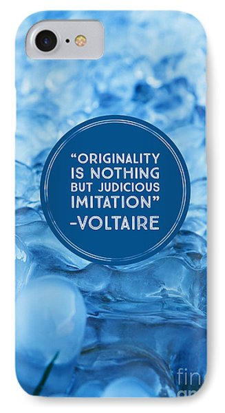 Voltaire Quote On Originality IPhone Case by Edward Fielding