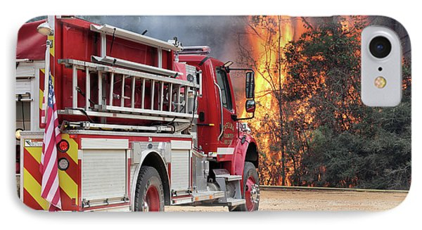IPhone 7 Case featuring the photograph Volunteer Firefighters by JC Findley