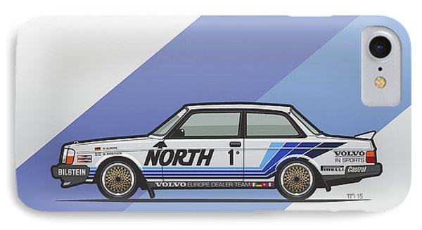 Volvo 240 242 Turbo Group A Homologation Race Car IPhone Case by Monkey Crisis On Mars