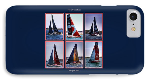 Volvo Ocean Race Newport 2015 IPhone Case by Tom Prendergast