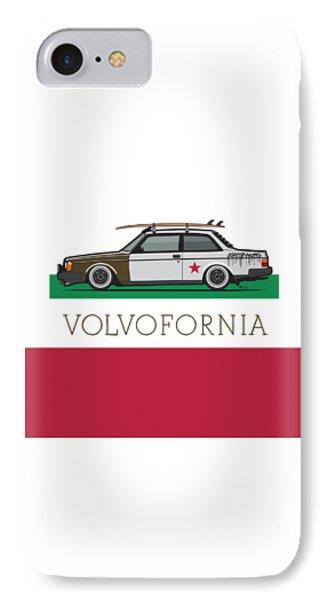 Volvofornia Slammed Volvo 242 240 Coupe California Style IPhone Case