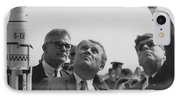 Von Braun And Jfk Looking Towards The Sky IPhone Case