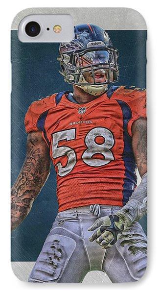 Von Miller Denver Broncos Art 1 IPhone Case by Joe Hamilton