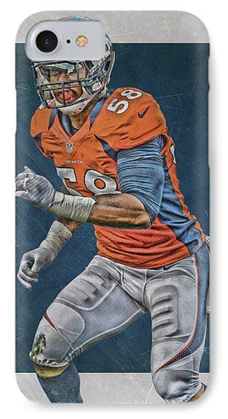 Von Miller Denver Broncos Art 2 IPhone Case by Joe Hamilton