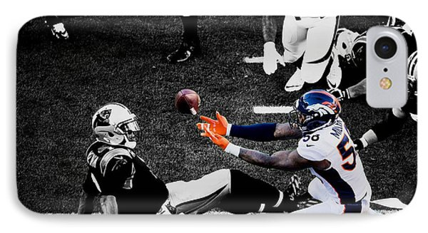 Von Miller Gimme Dat IPhone Case by Brian Reaves